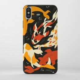 Koi in Black Water iPhone Case