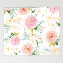 Floral 02 Throw Blanket