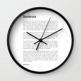 Desiderata #minimalism Wall Clock