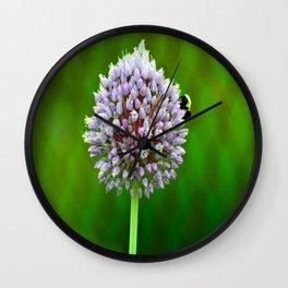 Purple Burst Wall Clock