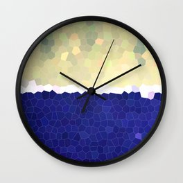 Shoreline Stained Glass Golden Wall Clock