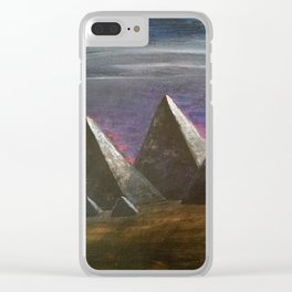 Giza pyramids under Orions belt Clear iPhone Case