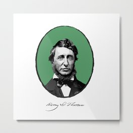 Authors - Henry David Thoreau Metal Print