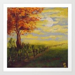 Summer's Sunset Art Print