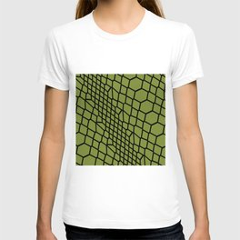 Green Snake Skin Pattern Reptile Fan Leather Gift T-shirt