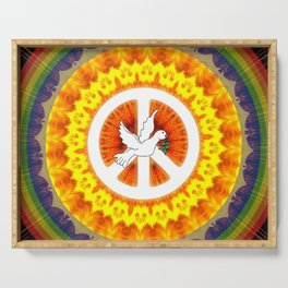 CND Peace and Love Serving Tray