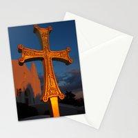 Cross Outside of St. Barbara Greek Orthodox Church, Santa Barbara, CA Stationery Cards
