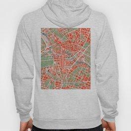 Berlin city map classic Hoody
