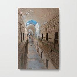 Abandoned Prison Corridor Metal Print