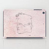 one line iPad Cases featuring One line Fight Club by quibe