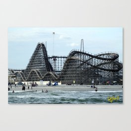 Roller Coasters, WildWood New Jersey 2016 Canvas Print