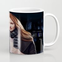 amy pond Mugs featuring Doctor Who's Amy Pond by Sara LD