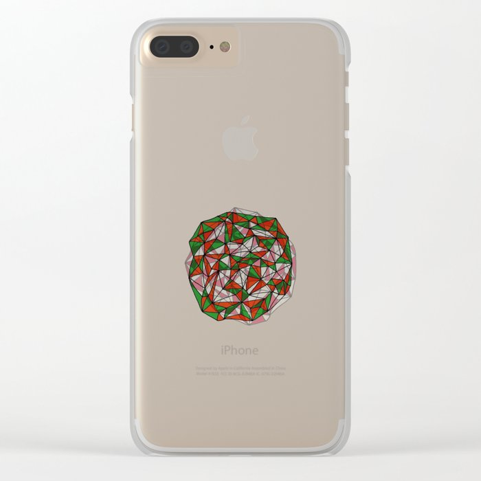 - red orange green - Clear iPhone Case