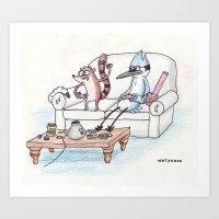 regular show Art Prints featuring Regular Show by Osbaston
