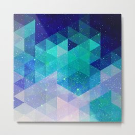 Geometric and electric Metal Print