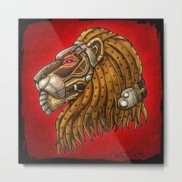 Steampunk Menagerie Lion Metal Print