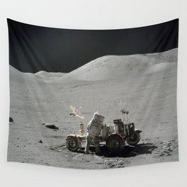 Apollo 17 - Lunar Rover Work Wall Tapestry