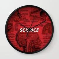 science Wall Clocks featuring Science by dreamshade