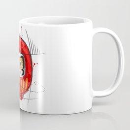 Daruma Digital Drawing, Japanese Art, Watercolor, Daruma Print Coffee Mug