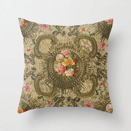 Antique Baroque Throw Pillow