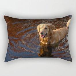 Autumn swim Rectangular Pillow