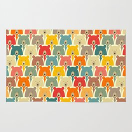 Bears cartoon pattern Rug