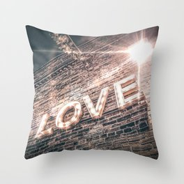 LET LOVE SHINE Throw Pillow