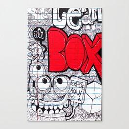 Ali red box Canvas Print