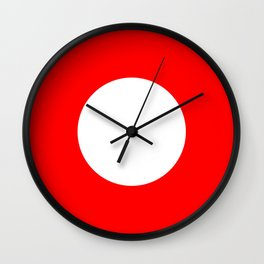 White circle on red Wall Clock