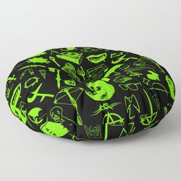 Buffy Symbology, Green Floor Pillow