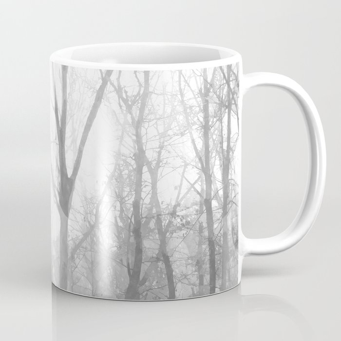 Black and White Forest Illustration Coffee Mug