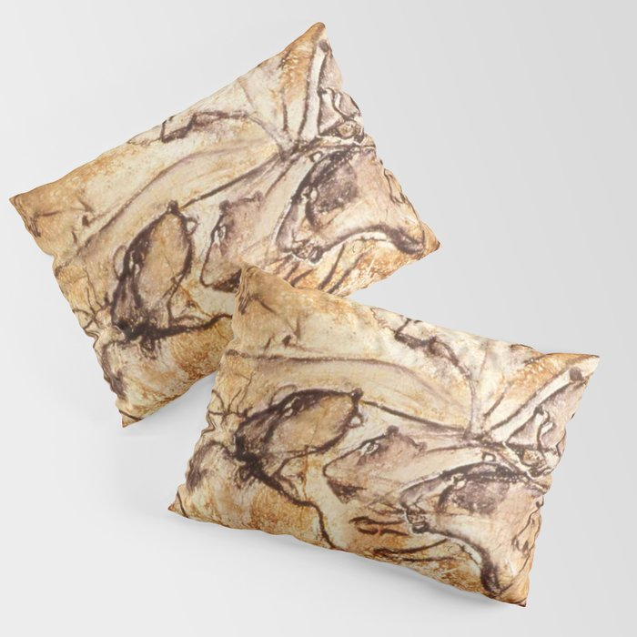 Panel Of Lions Chauvet Cave Pillow Sham By Thinlinetextiles Society6