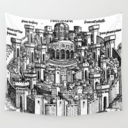 Jerusalem 1493 Wall Tapestry