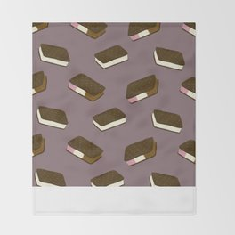 Ice Cream Sandwiches Throw Blanket