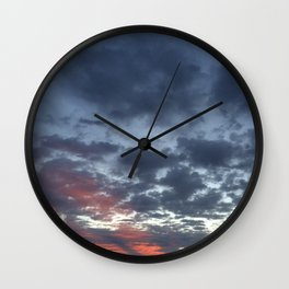 Blue sunrise Wall Clock