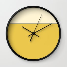 Warm Sunlight Color Block Wall Clock