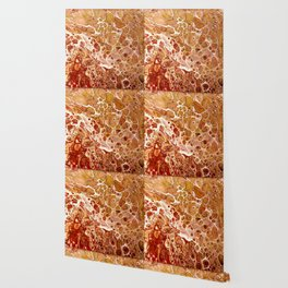 Penny Saved Red Fluid Acrylic Abstract Wallpaper