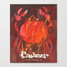 Cancer the Crab Poster Canvas Print