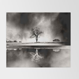 SOLITARY REFLECTION Throw Blanket