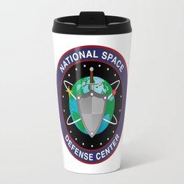 National Space Defense Center Crest Travel Mug
