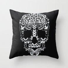 Cranium Butterflies B&W Option Throw Pillow