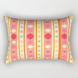 Happy Tribal Pattern Rectangular Pillow