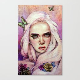 Sweet Flora Enshrined  Canvas Print