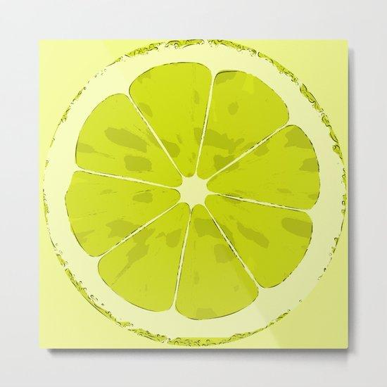 Lime Metal Print