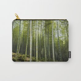 Bamboo Forest in Green Carry-All Pouch