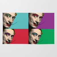 salvador dali Area & Throw Rugs featuring Salvador Dali  by mark ashkenazi
