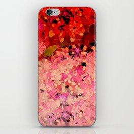 Two Different Worlds -- Floral Pattern iPhone Skin