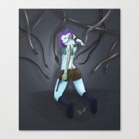 cyberpunk Canvas Prints featuring Cyberpunk by GrazilDesign