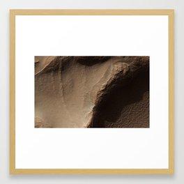 Honeycomb-Textured Landforms in Northwestern Hellas Planitia in Mars Framed Art Print