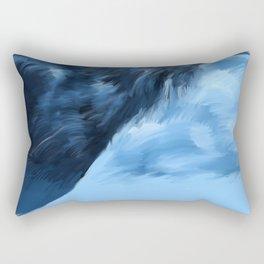 Blue Raven Rectangular Pillow
